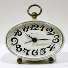Despertadores antiguos: RELOJ DESPERTADOR BLESSING. WEST GERMANY. FUNCIONA PERFECTO.. Lote 196171042