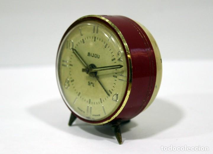 Despertadores antiguos: Pequeño Reloj despertador BIJOU. FUNCIONANDO PERFECTO. - Foto 3 - 196529360