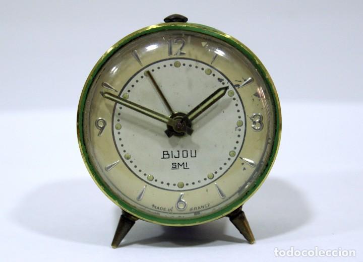 PEQUEÑO RELOJ DESPERTADOR BIJOU. AÑOS 1960. (Relojes - Relojes Despertadores)