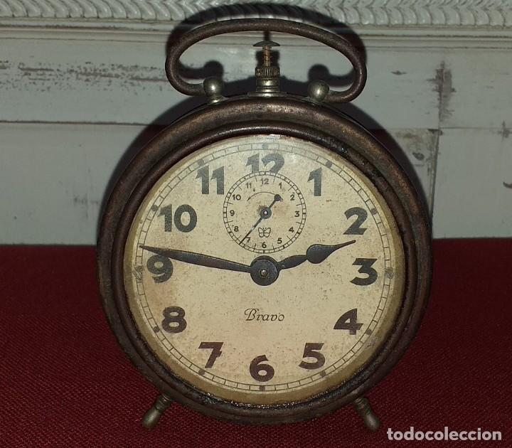 Despertadores antiguos: DESPERTADOR MARCA BRAVO - NO FUNCIONA - PRIMERA MITAD SIGLO XX - Foto 2 - 196839757