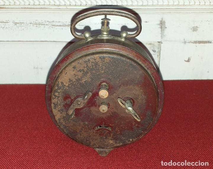 Despertadores antiguos: DESPERTADOR MARCA BRAVO - NO FUNCIONA - PRIMERA MITAD SIGLO XX - Foto 6 - 196839757