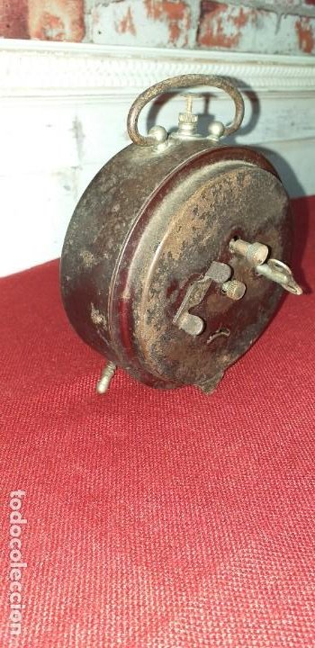 Despertadores antiguos: DESPERTADOR MARCA BRAVO - NO FUNCIONA - PRIMERA MITAD SIGLO XX - Foto 7 - 196839757