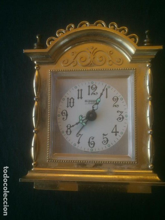 RELOJ DESPERTADOR BLESSING -ALARM- WEST GERMANY. FUNCIONANDO (Relojes - Relojes Despertadores)