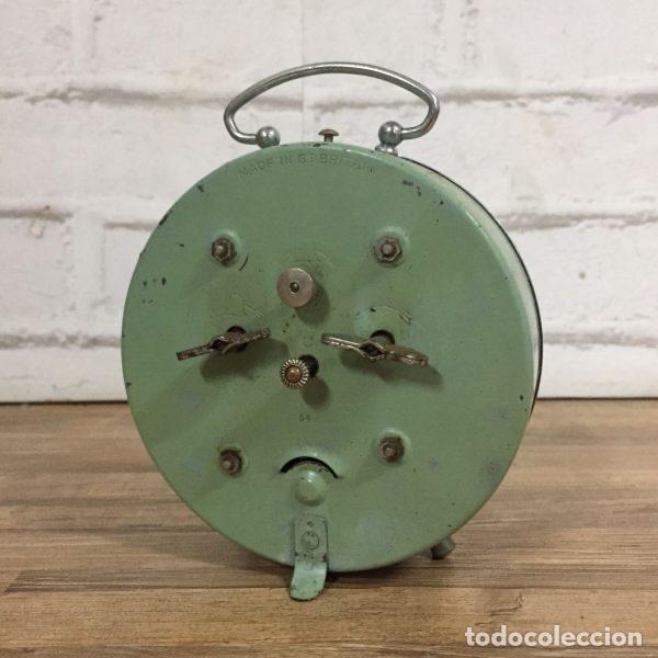 Despertadores antiguos: Reloj despertador Smith Alarm Gran Bretaña años 60 nº de serie 549 12 cm - Foto 2 - 106677683