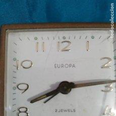 Despertadores antiguos: ANTIGUO RELOJ EUROPA DESPERTADOR VIAJE CLASICO VINTAGE. Lote 197918255