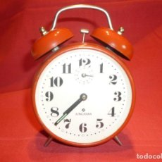Despertadores antiguos: RELOJ DESPERTADOR DE SOBREMESA MARCA ALEMANA JUNGHANS. Lote 198022708