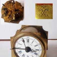 Despertadores antiguos: ANTIGUO FRANCÉS, JAPY FRERE, PEQUEÑO RELOJ DESPERTADOR DE VIAJE ~ 1900, REF B. Lote 198423130