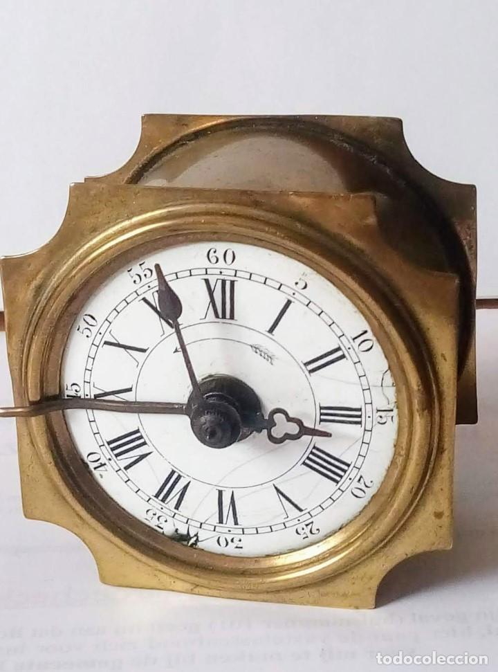 Despertadores antiguos: Antiguo Francés, Japy Frere, pequeño reloj despertador de viaje ~ 1900, ref b - Foto 2 - 198423130