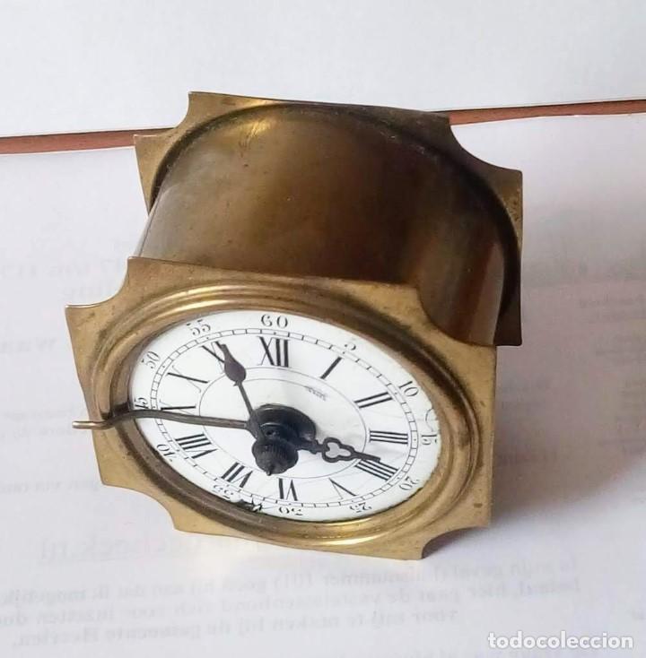 Despertadores antiguos: Antiguo Francés, Japy Frere, pequeño reloj despertador de viaje ~ 1900, ref b - Foto 3 - 198423130