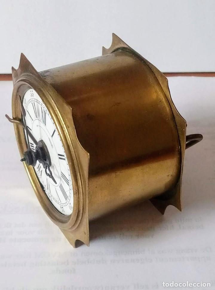 Despertadores antiguos: Antiguo Francés, Japy Frere, pequeño reloj despertador de viaje ~ 1900, ref b - Foto 4 - 198423130