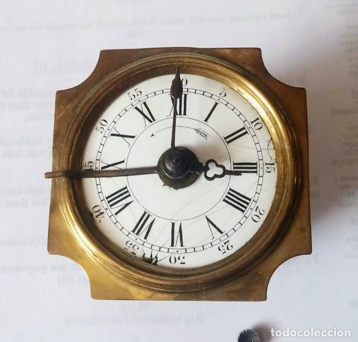 Despertadores antiguos: Antiguo Francés, Japy Frere, pequeño reloj despertador de viaje ~ 1900, ref b - Foto 9 - 198423130