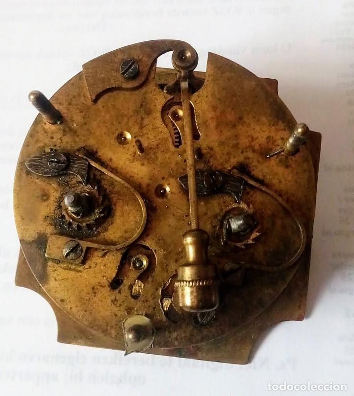 Despertadores antiguos: Antiguo Francés, Japy Frere, pequeño reloj despertador de viaje ~ 1900, ref b - Foto 10 - 198423130