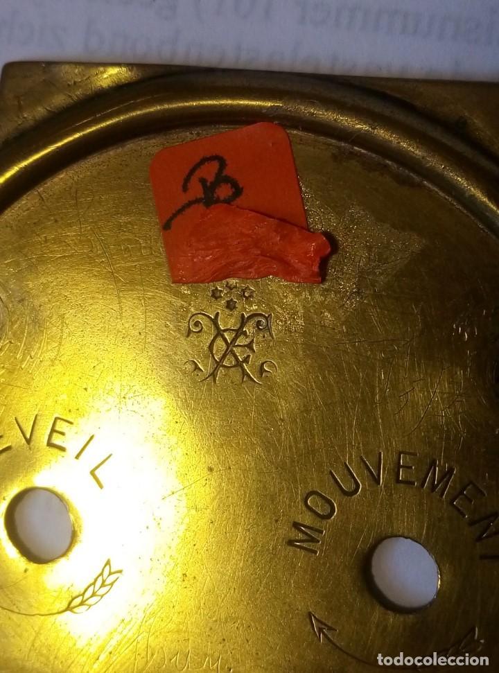 Despertadores antiguos: Antiguo Francés, Japy Frere, pequeño reloj despertador de viaje ~ 1900, ref b - Foto 13 - 198423130