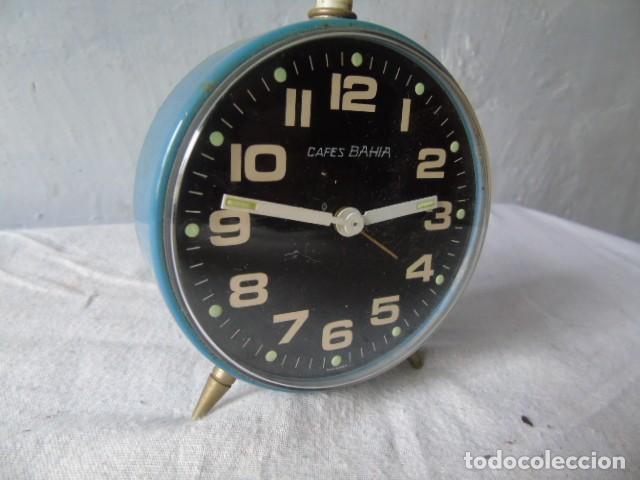 RELOJ DESPERTADOR CAFES BAHIA FABRICADO EN ESPAÑA - RELOJ PARA RESTAURAR (Relojes - Relojes Despertadores)