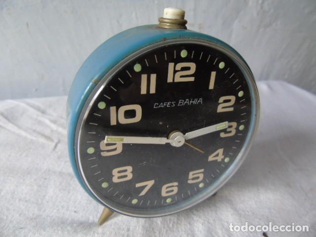 Despertadores antiguos: reloj despertador cafes bahia fabricado en españa - reloj para restaurar - Foto 2 - 198479028
