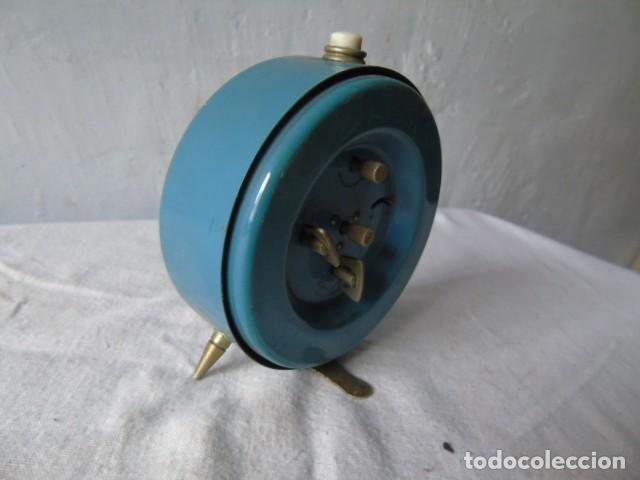 Despertadores antiguos: reloj despertador cafes bahia fabricado en españa - reloj para restaurar - Foto 4 - 198479028