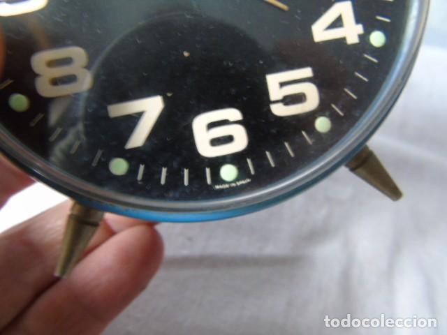 Despertadores antiguos: reloj despertador cafes bahia fabricado en españa - reloj para restaurar - Foto 5 - 198479028