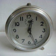 Despertadores antiguos: RELOJ DESPERTADOR FUNCIONANDO MARCA JAZ. Lote 198762997