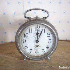 Despertadores antiguos: RELOJ DESPERTADOR NIQUELADO . COMPAGNIE INDUSTRIELLE DE MECANIQUE HORLOGERE . PARIS .AÑOS 50 .. Lote 198788210
