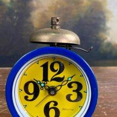Despertadores antiguos: RELOJ DESPERTADOR AZUL BLESSING WEST GERMANY. Lote 201223942