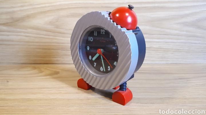Despertadores antiguos: Reloj despertador infantil rhythm. Vintage y funcionando. de finales de los 80 o años 90, - Foto 6 - 202315696