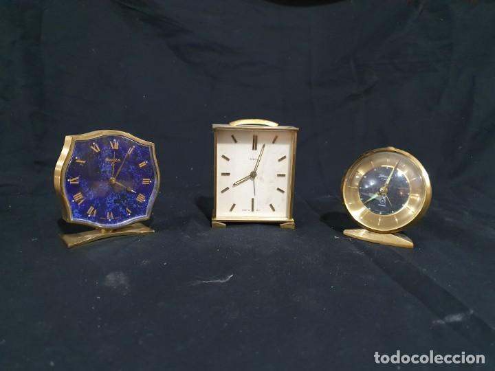 LOTE DE TRES RELOJES DESPERTADOR (Relojes - Relojes Despertadores)