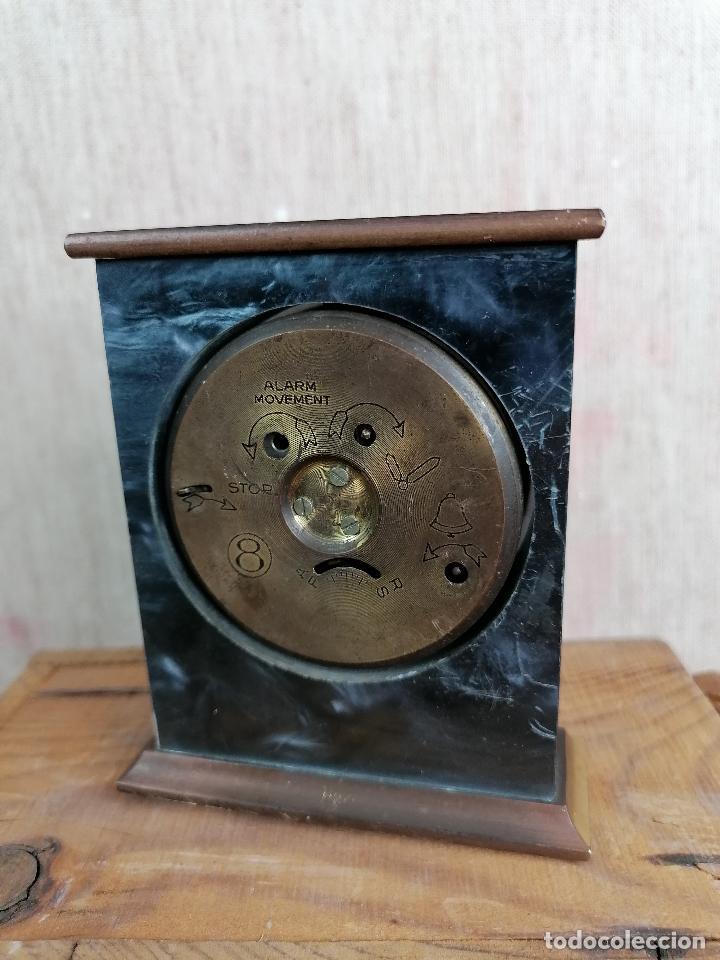 Despertadores antiguos: RELOJ JACCARD DE SOBREMESA EN MARMOL - Foto 2 - 204613233