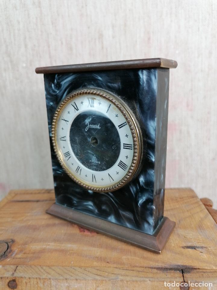 Despertadores antiguos: RELOJ JACCARD DE SOBREMESA EN MARMOL - Foto 4 - 204613233