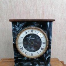Despertadores antiguos: RELOJ JACCARD DE SOBREMESA EN MARMOL. Lote 204613233