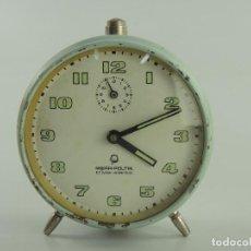 Despertadores antiguos: VINTAGE RELOJ DESPERTADOR POLONIA MERA-POLTIK. Lote 205034562