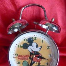 Despertadores antiguos: PRECIOSO RELOJ DESPERTADOR MICKEY MOUSE. Lote 205586667