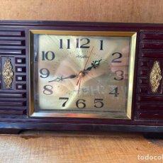 Despertadores antiguos: CURIOSO RELOJ DESPERTADOR DE SOBREMESA. Lote 205827811