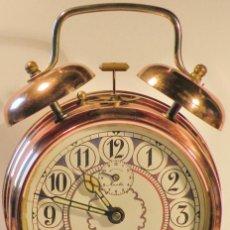 Despertadores antiguos: RELOJ DESPERTADOR MAUTHE DOBLE CAMPANA GRANDE. Lote 205828620