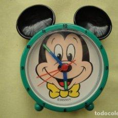 Despertadores antiguos: RELOJ DESPERTADOR DE MICKEY MOUSSE. Lote 206166297
