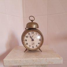 Despertadores antiguos: ANTIGUO RELOJ DESPERTADOR FUNCIONA. Lote 170051750