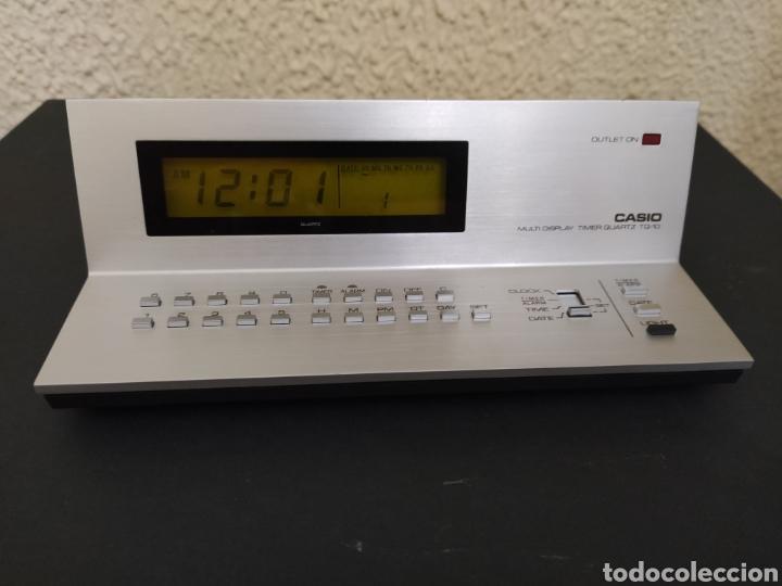 RELOJ DESPERTADOR VINTAGE 1979 - CASIO TQ-10 MULTI DISPLAY TEMPORIZADOR DE CUARZO - FUNCIONA (Relojes - Relojes Despertadores)