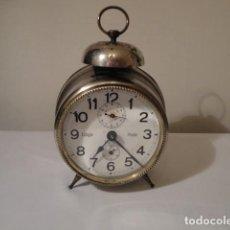 Despertadores antiguos: DESPERTADOR ANTIGUO AÑO 1924. FUNCIONA PERFECTAMENTE. DIÁMETRO ESFERA CRISTAL 10 CM. VER FOTOS.. Lote 208777921