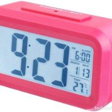 Despertadores antiguos: RELOJ DIGITAL CON RETROILUMINACION DESPERTADOR. Lote 209366702