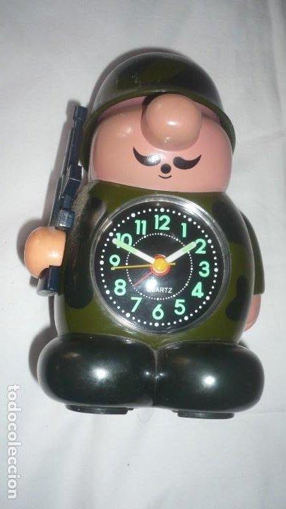 RELOJ DESPERTADOR FORMA SOLDADO (Relojes - Relojes Despertadores)