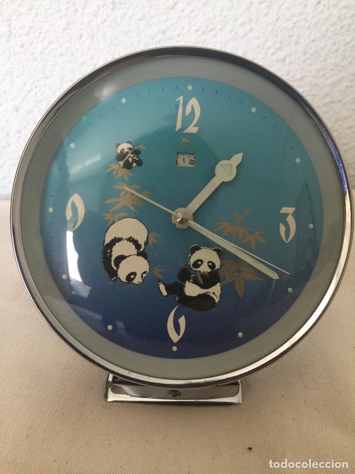 Despertadores antiguos: Reloj despertador autómata oso panda. NOS - Foto 2 - 209989032