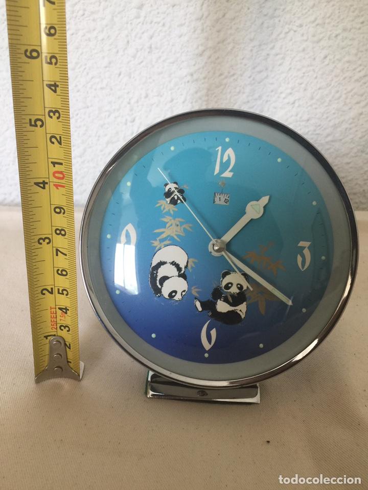 Despertadores antiguos: Reloj despertador autómata oso panda. NOS - Foto 3 - 209989032