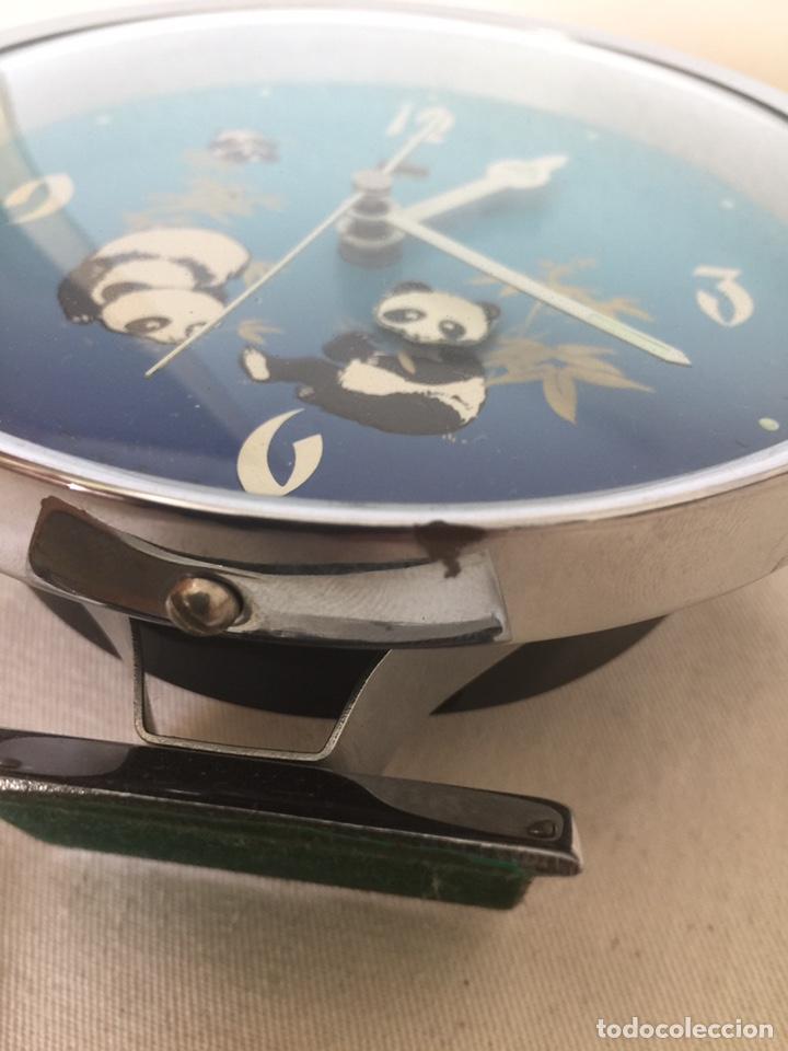 Despertadores antiguos: Reloj despertador autómata oso panda. NOS - Foto 6 - 209989032