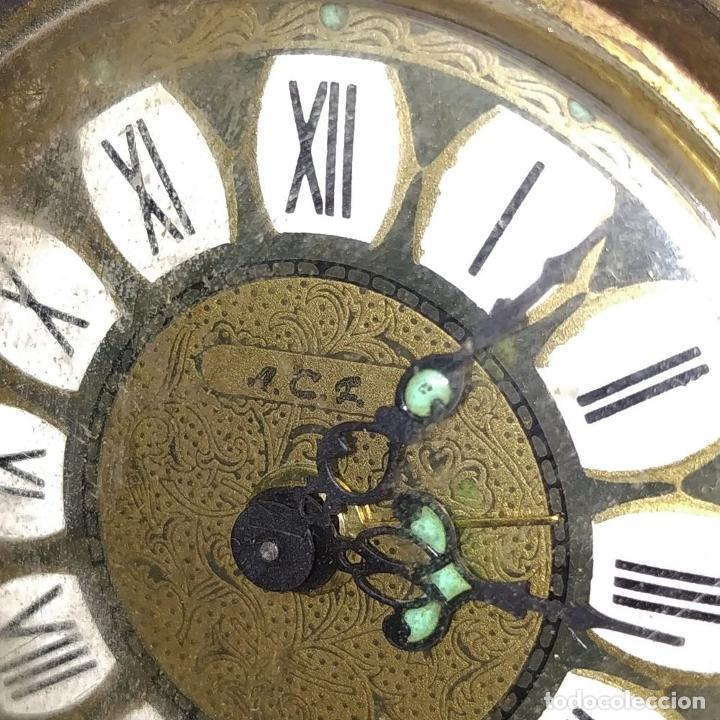 Despertadores antiguos: RELOJ DESPERTADOR CON SOPORTE EN PORCELANA Y METAL DORADO. MARCA ACL (?). ALEMANIA DEL ESTE. XX - Foto 16 - 210019313