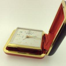 Despertadores antiguos: RELOJ DESPERTADOR PLEGABLE MARCA IDEC VINTAGE CON CALENDARIO. Lote 210022823