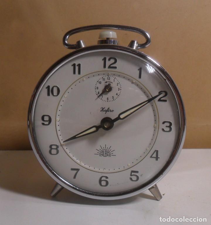 VINTAJE - DESPERTADOR ZAFIRO ALBA ** MUY BUEN ESTADO - FUNCIONA (Relojes - Relojes Despertadores)