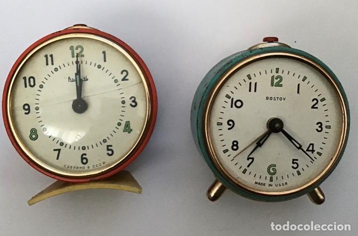LOTE 2 DESPERTADORES SOVIETICOS URSS (Relojes - Relojes Despertadores)