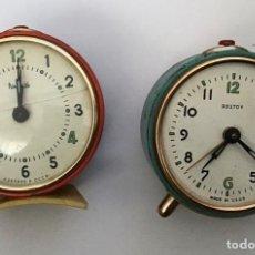 Despertadores antiguos: LOTE 2 DESPERTADORES SOVIETICOS URSS. Lote 210407645