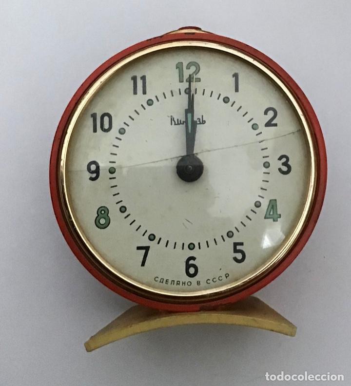 Despertadores antiguos: Lote 2 despertadores Sovieticos URSS - Foto 4 - 210407645