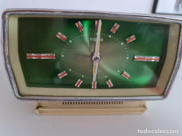 Despertadores antiguos: Reloj transistor despertador vintage Impex - Foto 8 - 210396701