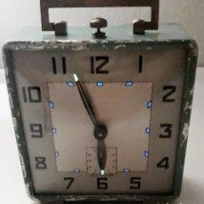 Despertadores antiguos: ANTIGUO RELOJ DESPERTADOR DE CUERDA REVISADO. Lote 213207711